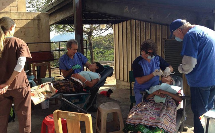 Patients receiving treatment on mission trip